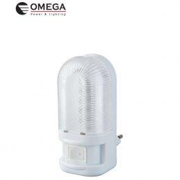 מנורת לילה לדים + מפסק- אור קר