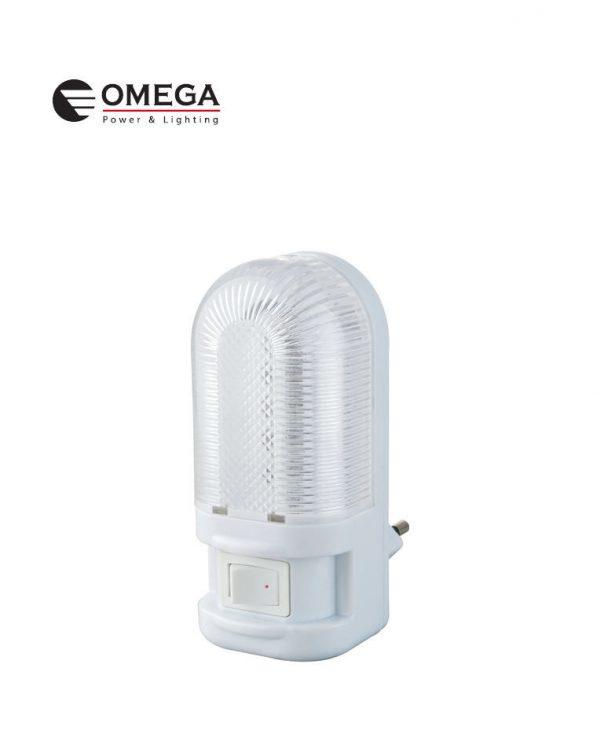 מנורת לילה לדים + מפסק- אור חם