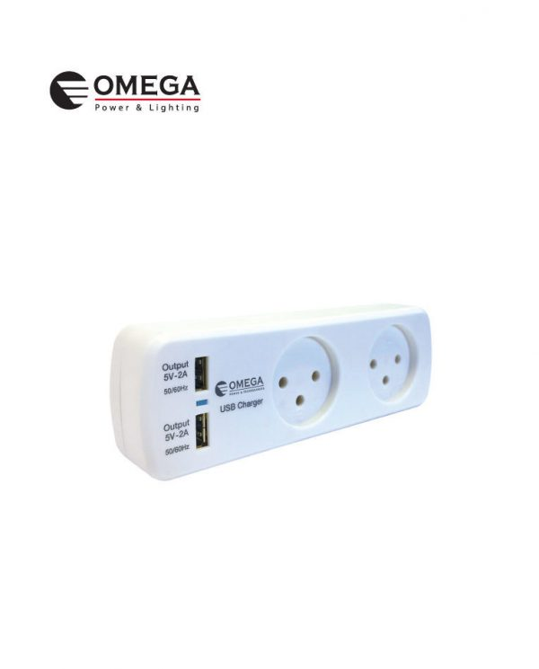הסתעפות T-2 + שניים USB זרם טעינה 1A