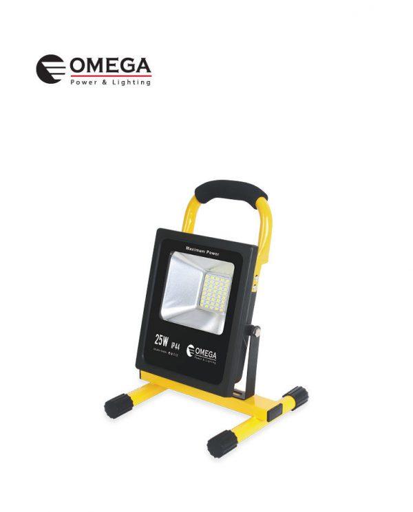 בסיס/פנס LED נטען 25W אומגה
