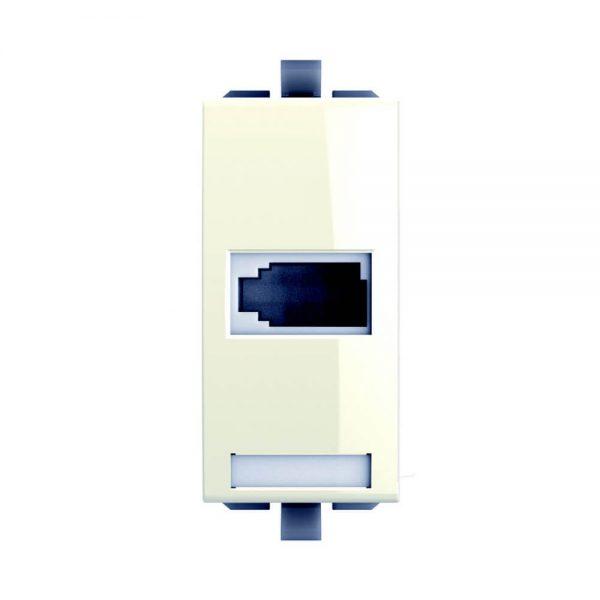 נס שקע טלפון ישראלי 1 מודול לבן