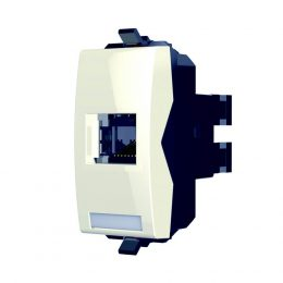 נס שקע מחשב  RJ45 לבן