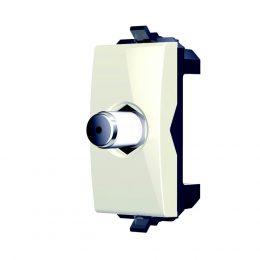 נס שקע TV קואקס 1 מודול לבן